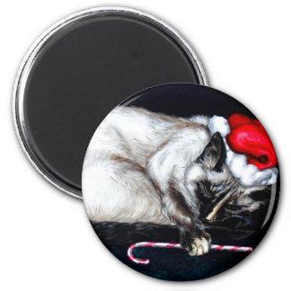 Sleeping Santa Claws 6 Cm Round Magnet