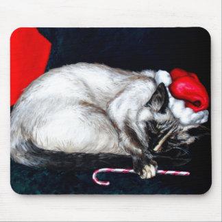 Sleeping Santa Claws Mouse Pad