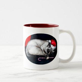 Sleeping Santa Claws Two-Tone Mug
