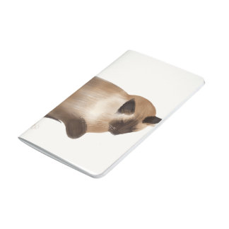 Sleeping Siamese Kitty Cat Notebook