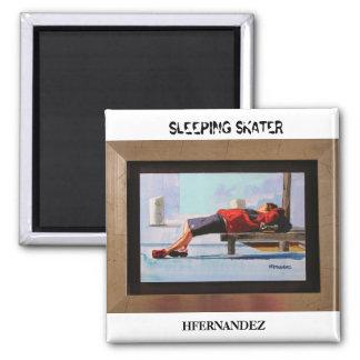 SLEEPING SKATER, HFERNANDEZ SQUARE MAGNET