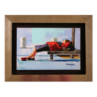 sleeping skater postcard