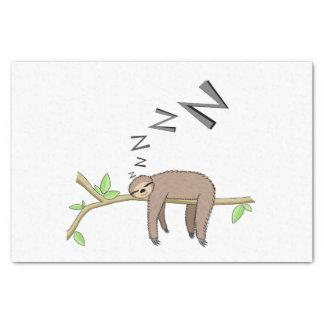 Sleeping sloth tissue paper