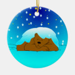 Sleeping Snowy Bear Ornament