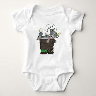 Sleeping Sock Drawer Monster Digital Art Baby Bodysuit