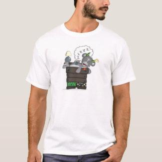 Sleeping Sock Drawer Monster Digital Art T-Shirt