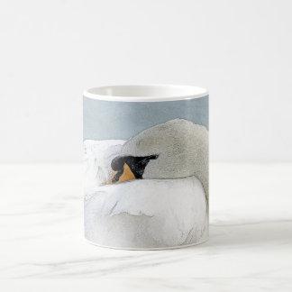 Sleeping Swan Art Mug