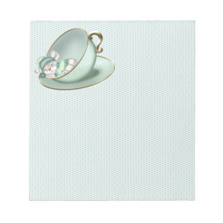 Sleeping Tea Cup Mouse Notepads