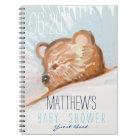 Sleeping Teddy Bear Baby Shower Guest Book