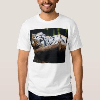 Sleeping Tiger, Big Cat, Wild Animal Photography Tshirt