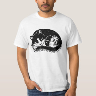 Sleeping Tuxedo Cat Men's Value T-Shirt