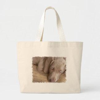 Sleeping Weimaraner Canvas Bag