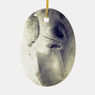 Sleeping weimaraner christmas ornament