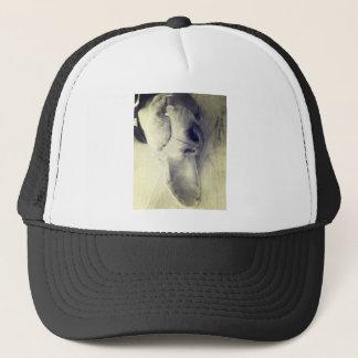 Sleeping weimaraner trucker hat