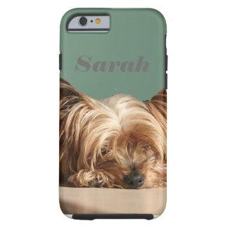 Sleeping Yorkie dog. Tough iPhone 6 Case