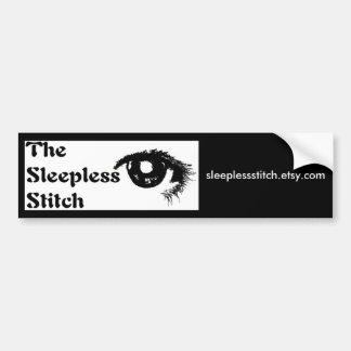 sleeplessstitch logo copy, sleeplessstitch.etsy... bumper sticker