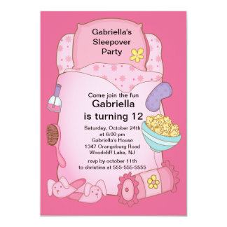 Sleepover Birthday Party Card