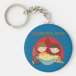Sleepovers Rock Keychains