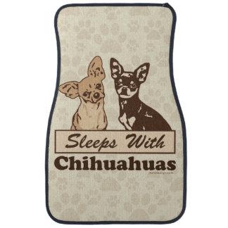 Sleeps With Chihuahuas Floor Mat