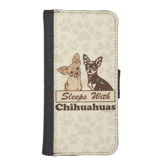 Sleeps With Chihuahuas iPhone SE/5/5s Wallet Case