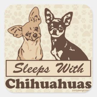 Sleeps With Chihuahuas Sticker