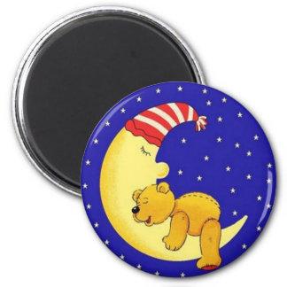 Sleeptime Bear 6 Cm Round Magnet