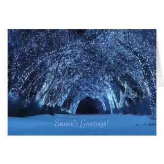 """""""Sleepwalker Wood (Blue)"""" Christmas Card"""