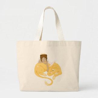 Sleepy Angel Jumbo Tote Bag