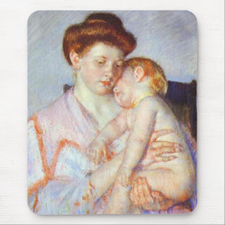 Sleepy Baby c 1910 Mary Cassatt Mousepad