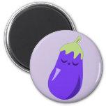 Sleepy Baby Eggplant magnet