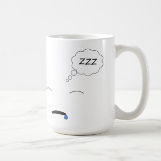 Sleepy Basic White Mug