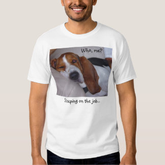 Sleepy Basset Hound T Shirt