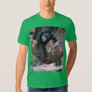 Sleepy Bear Hammock  Park Forest Trail Camping Art Tee Shirt