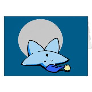 Sleepy Blue Star Greeting Card