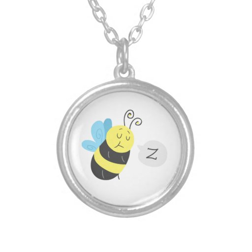 Sleepy Cartoon Bumblebee Pendant