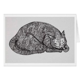 sleepy cat card