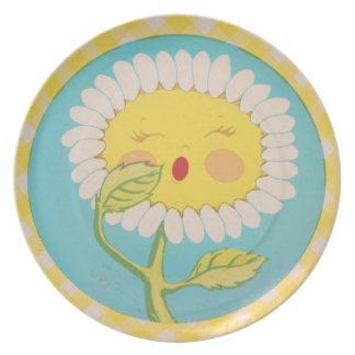 Sleepy Daisy Plate
