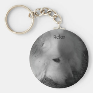 Sleepy Dog Key Ring