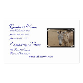 Sleepy Donkey Pack Of Standard Business Cards