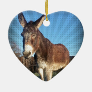 Sleepy Donkey Christmas Ornament