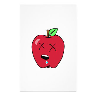Sleepy Drooling Red Apple Stationery