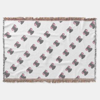 Sleepy Elephant Throw Blanket
