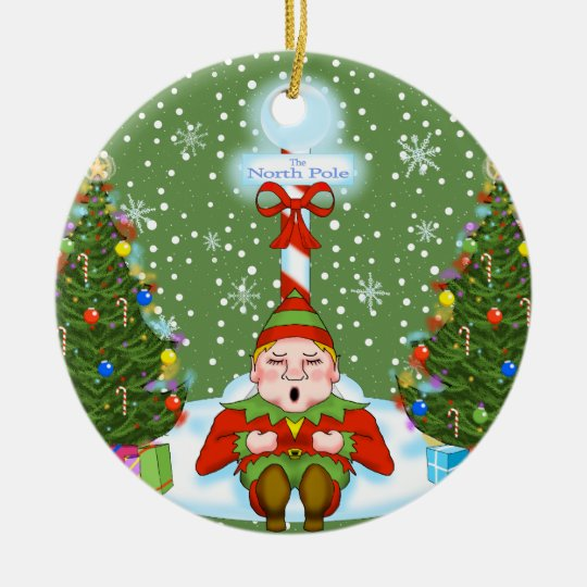 Sleepy Elf Christmas Ornament