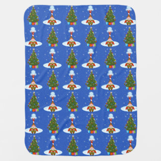 Sleepy Elf & Christmas Tree Baby Blanket
