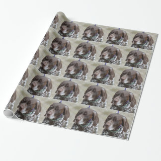 Sleepy Eyed German Shorthaired Pointer Wrapping Paper