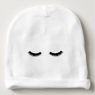 Sleepy Eyes Graphic Baby Beanie