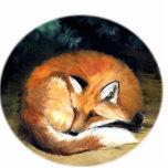 """""""Sleepy Fox"""" Art Ornament Acrylic Cut Out"""