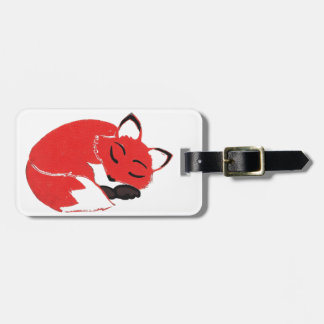 Sleepy Fox Luggage Tag