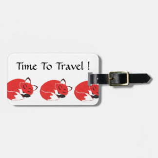 Sleepy Foxes Luggage Tag