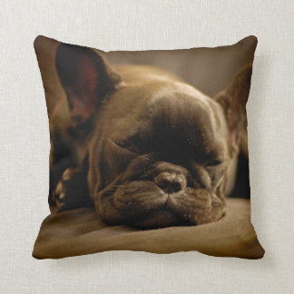 Sleepy French Bulldog Cushion